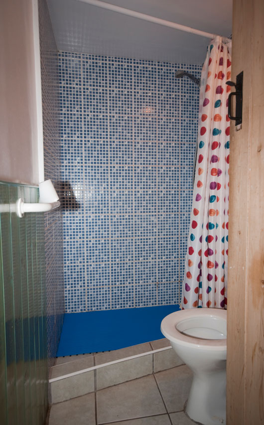 Ynysmarchog Bunkhouse - Shower/Toilet Room